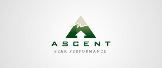 Green ice cap mountain logo design collection